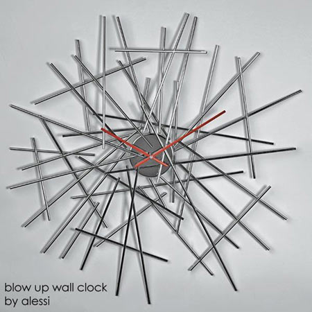 alessi blow up wall clocks. Black Bedroom Furniture Sets. Home Design Ideas