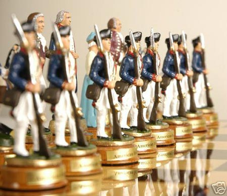 american revolution chess sets