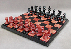 rustic chess pieces