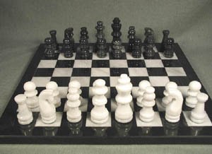 black and white chess sets