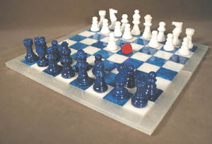 alabaster chess boards