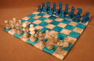 brown chess sets
