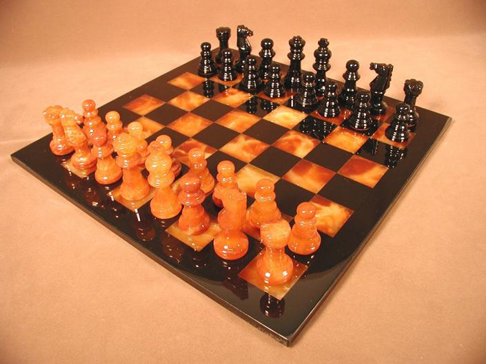 Alabaster stone chess sets - Granite chess set ...