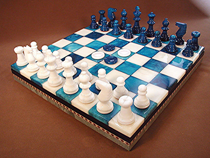Stone chess boards - Chess board display case ...