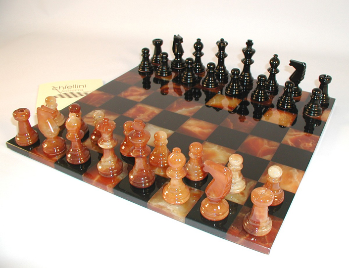 alabaster stone chess sets