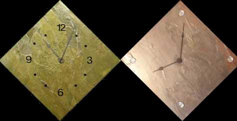 2 diamond wall clocks