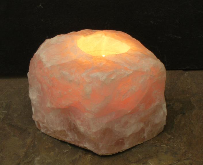 Rose Quartz Gemstone Candle Holders