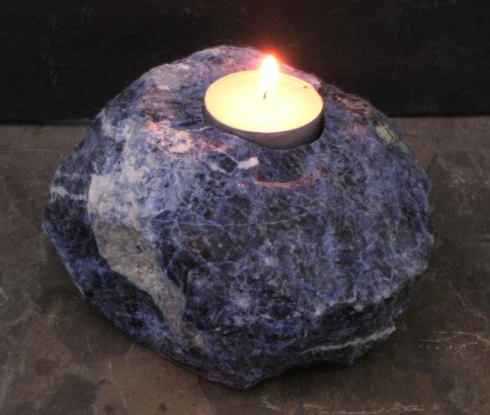 Sodalite Gemstone Candle Holders