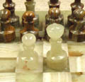 onyx chess pawns