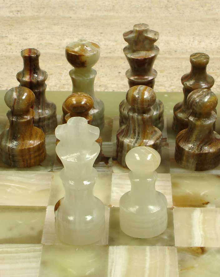 Onyx stone chess sets - Granite chess pieces ...