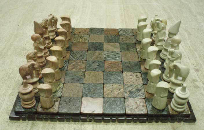 Stone chess pieces - Granite chess pieces ...
