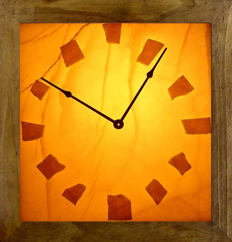 Lighted Onyx Wall Clocks