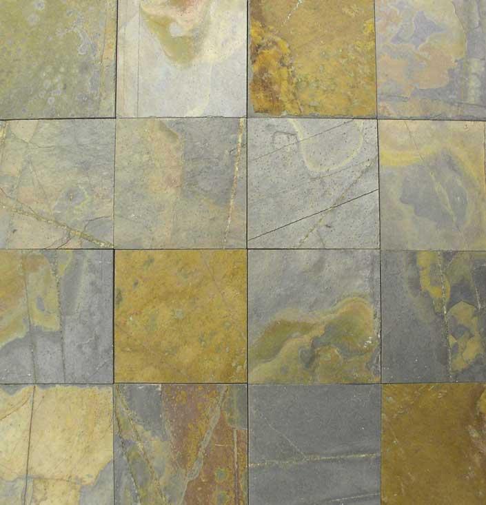 Black Gold Indian Slate Tiles