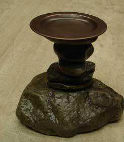 Rock Candle Holders :  home decor hand crafted stone candle holders stone design