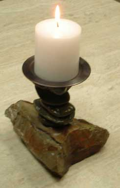 rock candle holders