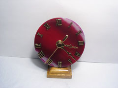 red gemstone desk clocks