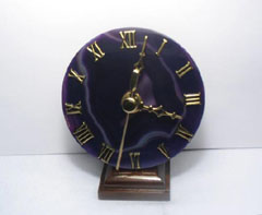 purple desk clocks