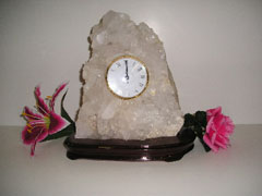 gemstone desk clocks