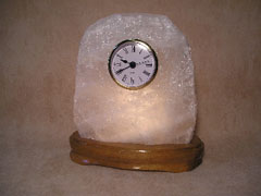 Illuminated Crystal Stone Desk Clocks