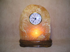 lighted stone mantel clocks