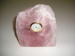 pink crystal desk clocks