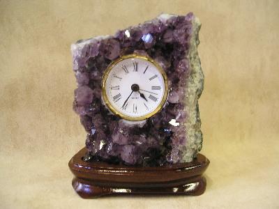 Amethyst Stone Desk Clocks Small