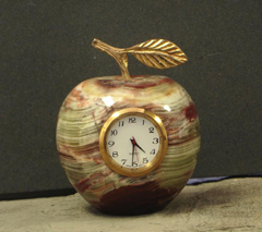 Onyx Stone Apple Clocks :  clocks design natural gifts