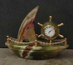 decorative onyx stone clocks