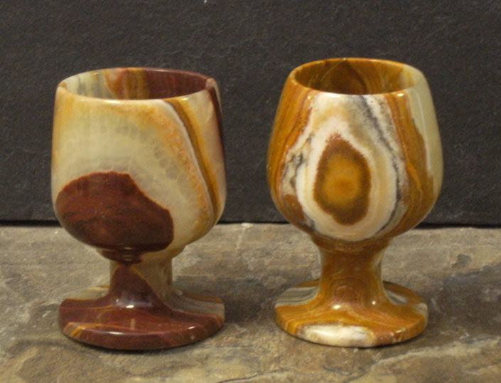 Unique Onyx Stone Shot Glasses