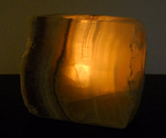 rustic onyx candle holders