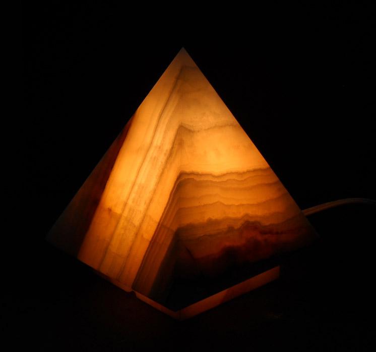 Pyramid Onyx Lamps