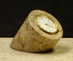 fossil stone clocks
