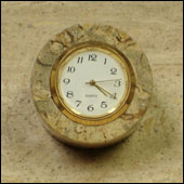 fossil stone mantel clocks