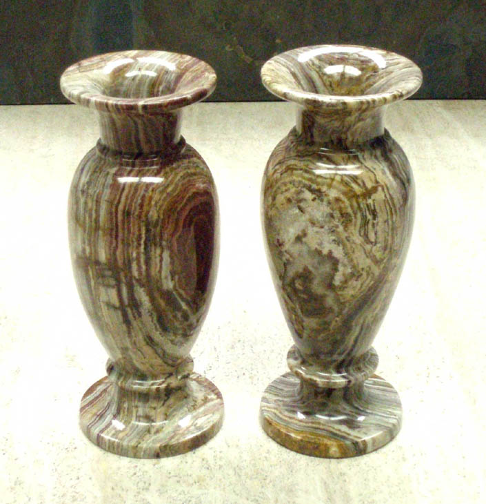 Onyx Stone Bud Vases