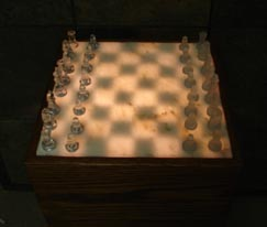 illuminated onyx chess sets