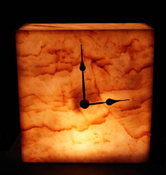 Illuminated Onyx Wall Clocks