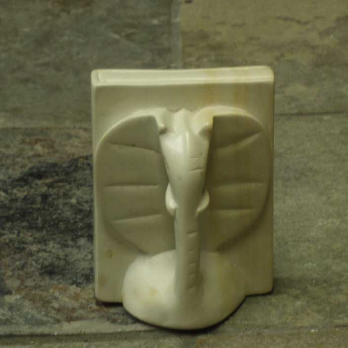 Carved Soapstone Bookends
