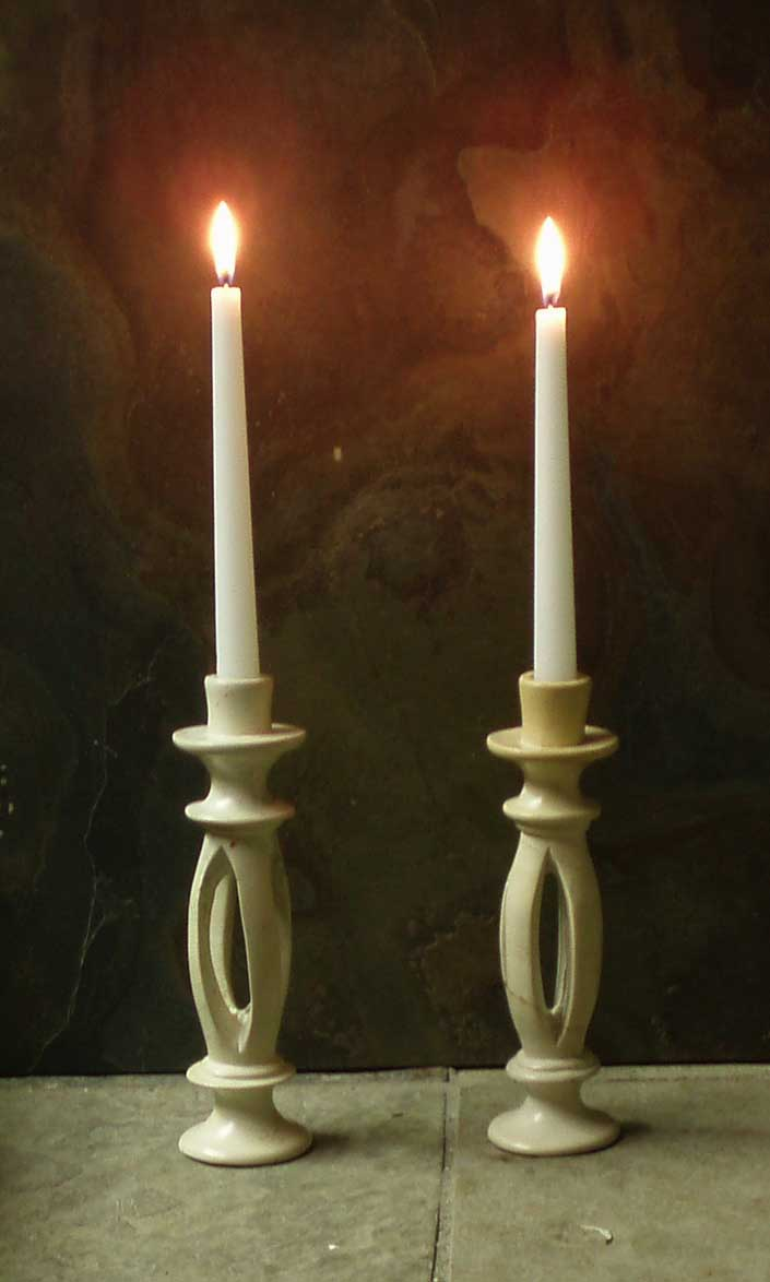 Split Stone Candle Holders