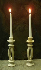 split candle holders
