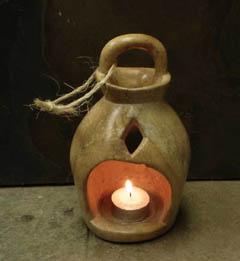 stone candle lantern