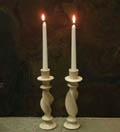 natural candle holders