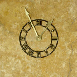 travertine wall clocks