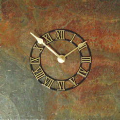 rajah red slate wall clocks