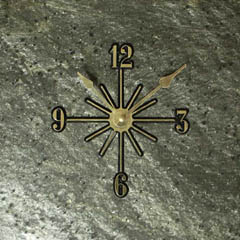 quartzite wall clocks