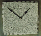 grey granite wall clocks