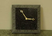 black granite desk clocks