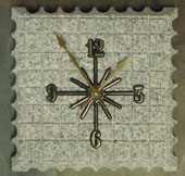 castle grey art stone clocks