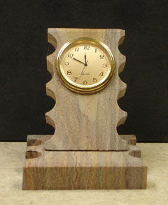 Executive Rainbow Sandstone Desk Clocks :  clocks rustic executive desk clocks