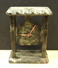 Oak Wood Marble Mantel Clocks :  clocks natural stone hoem decor