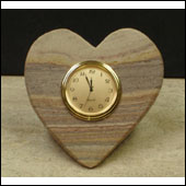 rainbow heart desk clocks